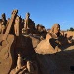 Festival de esculturas de arena. Pêra.