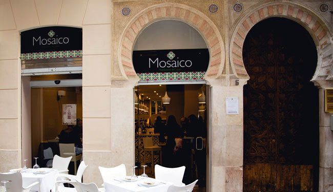 Malaga , restaurante mosaico