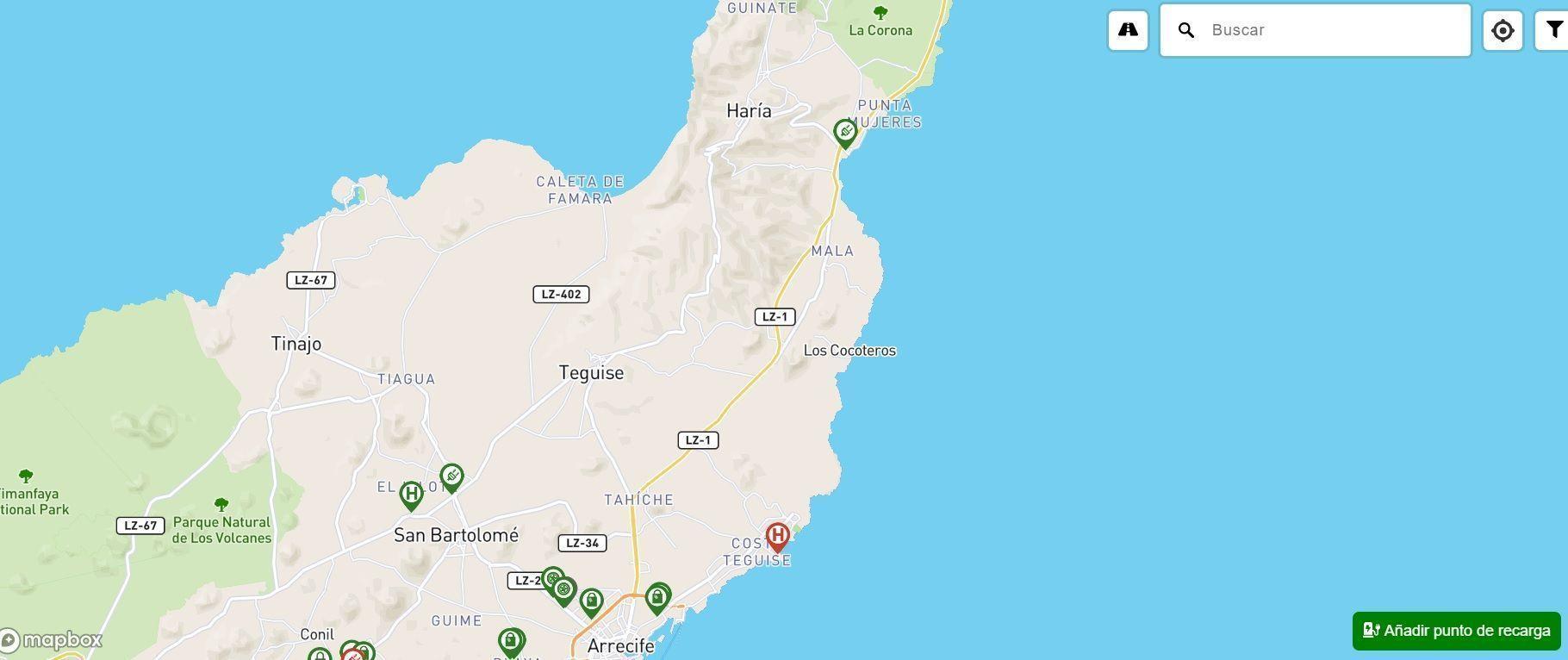 ruta por el norte de Lanzarote en coche eléctrico