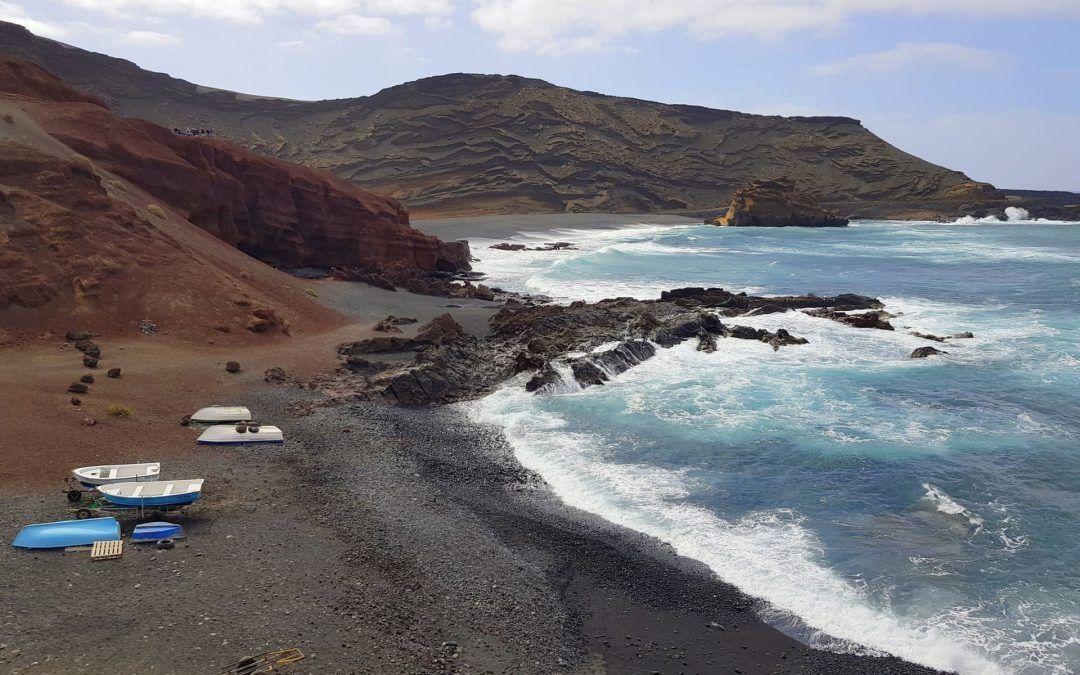 Ruta en coche eléctrico por el sur de Lanzarote : cuarta etapa parajes naturales